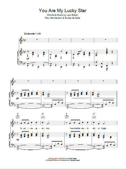 You Are My Lucky Star (Piano, Vocal & Guitar)