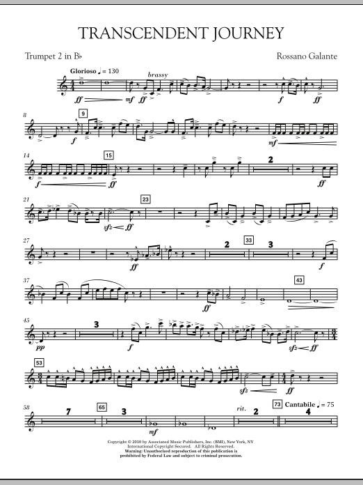 Transcendent Journey - Bb Trumpet 2 (Concert Band)