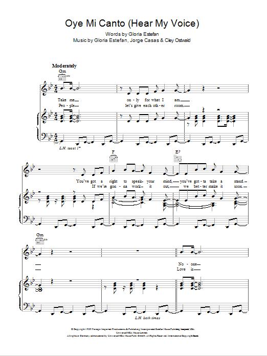 Oye Mi Canto (Hear My Voice) Sheet Music