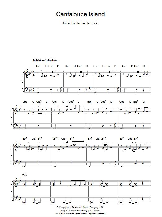 Cantaloupe Island Sheet Music Direct