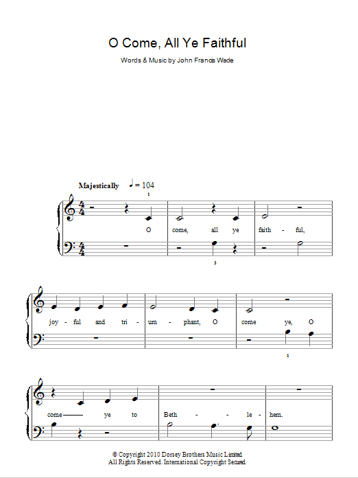 O Come All Ye Faithful Sheet Music