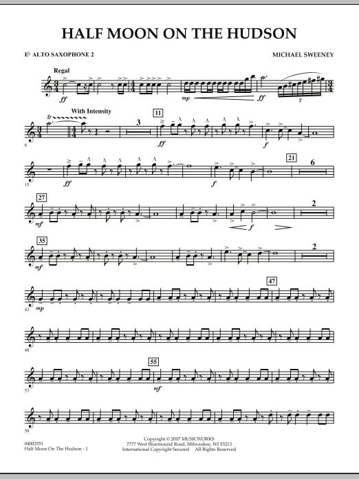 Half Moon On The Hudson - Eb Alto Saxophone 2 (Concert Band)