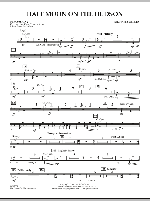 Half Moon On The Hudson - Percussion 2 (Concert Band)