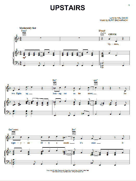Upstairs (Piano, Vocal & Guitar (Right-Hand Melody))