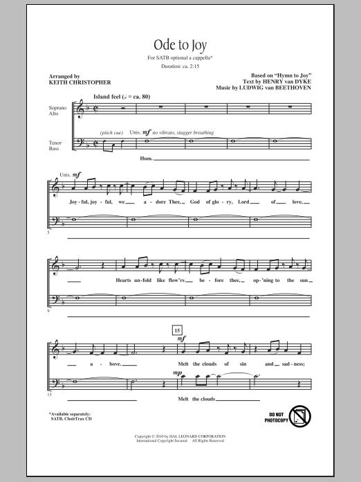 Ode To Joy (SATB Choir)