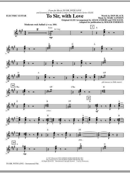 To Sir, With Love - Electric Guitar (Choir Instrumental Pak)