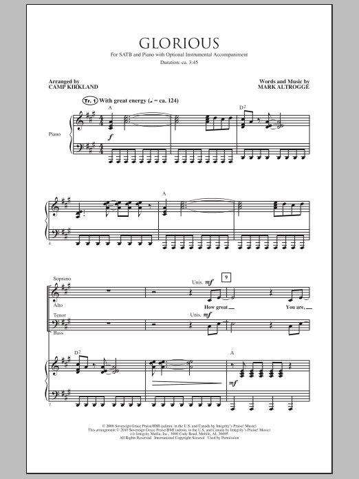 Glorious Sheet Music
