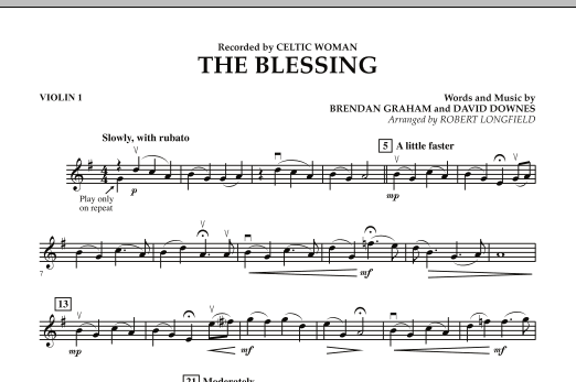 The Blessing - Violin 1 (Orchestra)