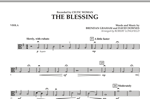 The Blessing - Viola (Orchestra)