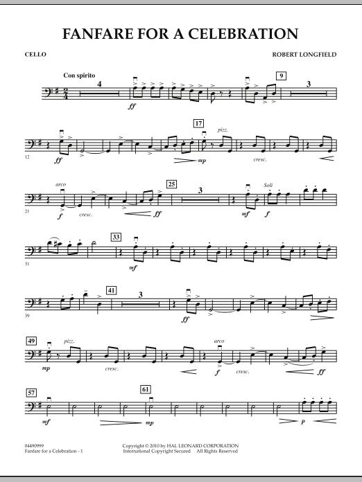 Fanfare For A Celebration - Cello (Orchestra)
