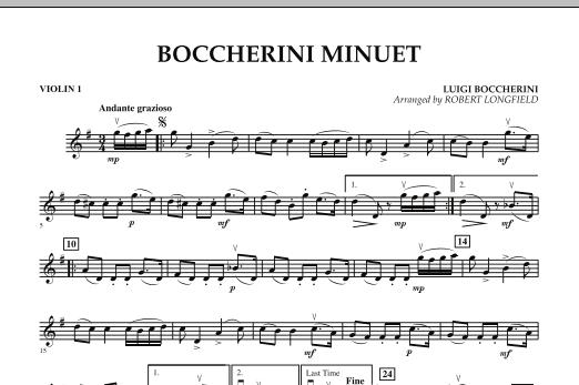 Boccherini Minuet - Violin 1 (Orchestra)