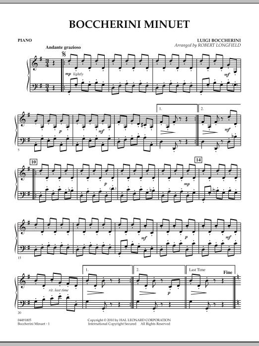 Boccherini Minuet - Piano (Orchestra)