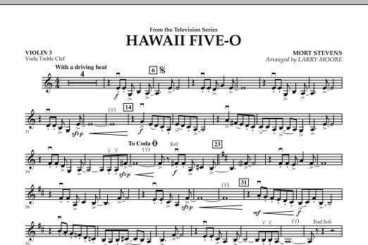 Hawaii Five-O - Violin 3 (Viola Treble Clef) (Orchestra)