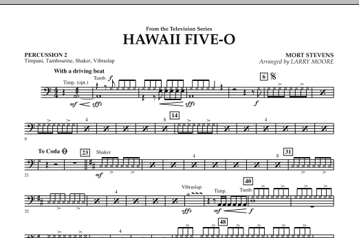 Hawaii Five-O - Percussion 2 (Orchestra)