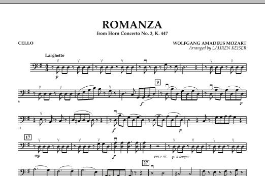 Romanza (from Horn Concerto No. 3, K. 447) - Cello (Orchestra)
