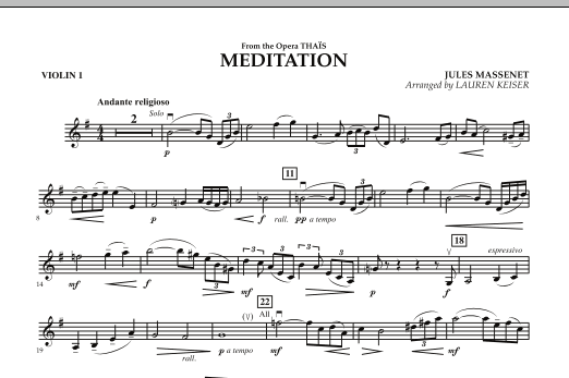 Meditation - Violin 1 (Orchestra)