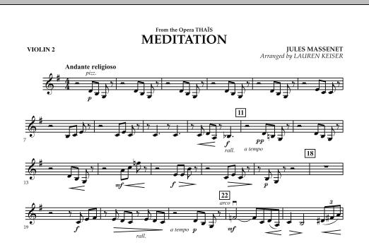 Meditation - Violin 2 (Orchestra)