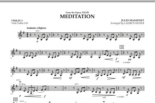Meditation - Violin 3 (Viola Treble Clef) (Orchestra)