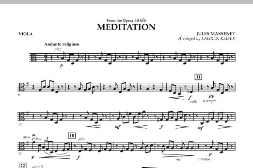 Meditation - Viola (Orchestra)