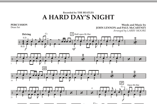 A Hard Day's Night - Percussion (Orchestra)
