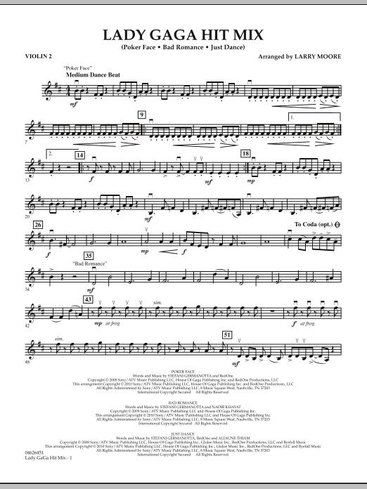 Lady GaGa Hit Mix - Violin 2 (Orchestra)