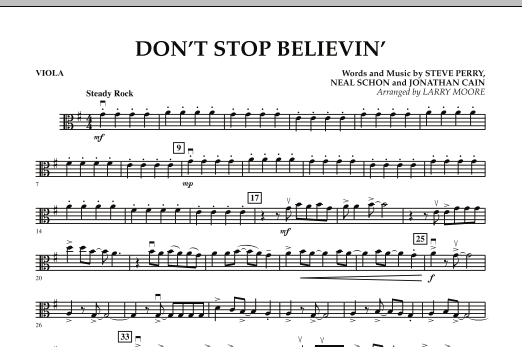 Don't Stop Believin' - Viola (Orchestra)