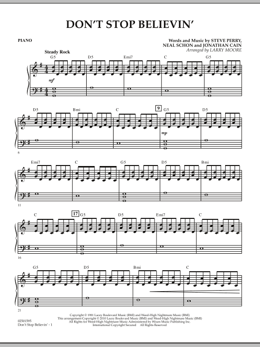 Don't Stop Believin' - Piano (Orchestra)