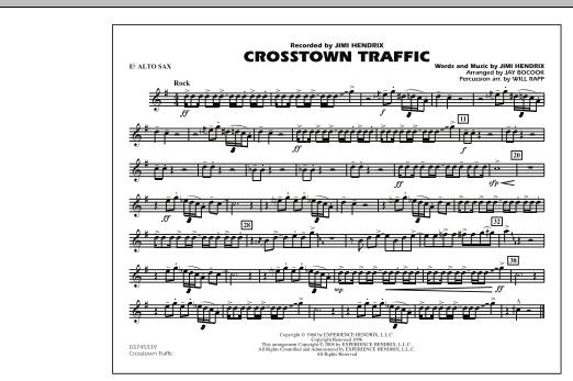 Crosstown Traffic - Eb Alto Sax (Marching Band)