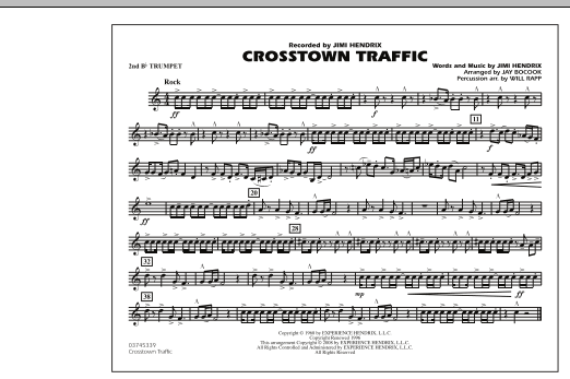 Crosstown Traffic - 2nd Bb Trumpet (Marching Band)