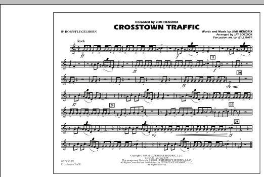 Crosstown Traffic - Bb Horn/Flugelhorn (Marching Band)