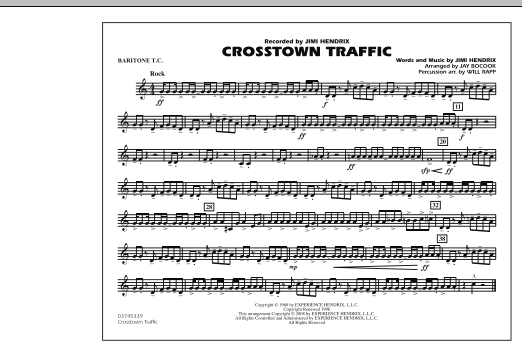 Crosstown Traffic - Baritone T.C. (Marching Band)