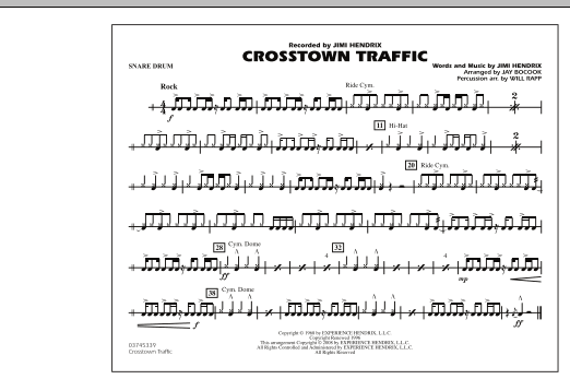 Crosstown Traffic - Snare Drum (Marching Band)