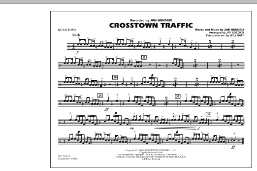 Crosstown Traffic - Quad Toms (Marching Band)