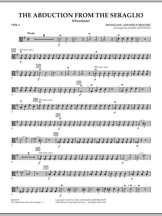 The Abduction From The Seraglio (Overture) - Viola (Orchestra)