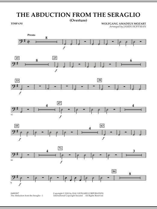 The Abduction From The Seraglio (Overture) - Timpani (Orchestra)