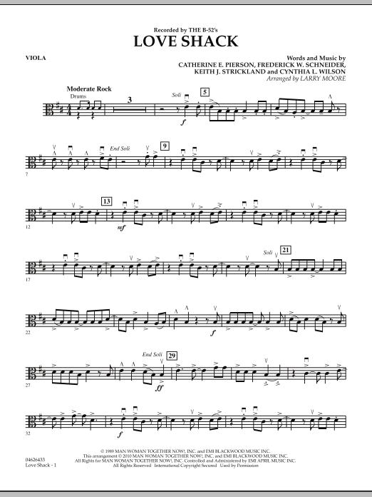 Love Shack - Percussion by Catherine E. Pierson, Cynthia L. Wilson ...