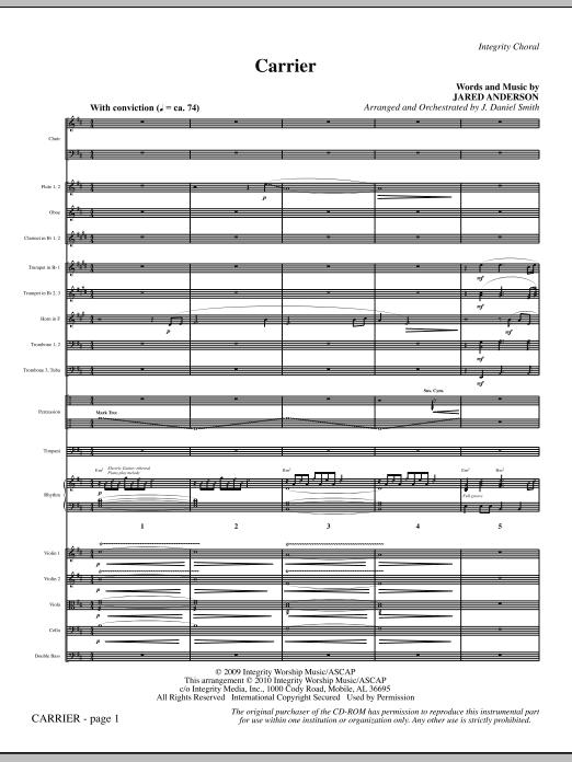 Carrier - Full Score (Choir Instrumental Pak)