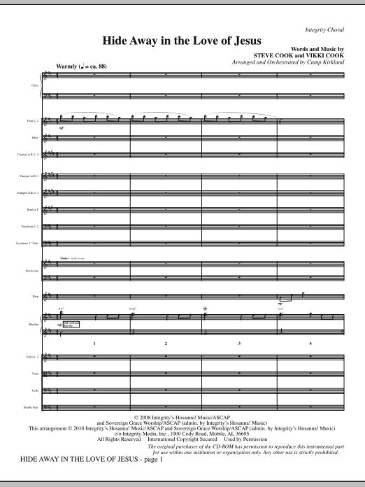 Hide Away In The Love Of Jesus - Full Score (Choir Instrumental Pak)