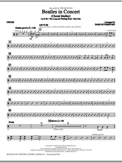 Beatles In Concert (Medley) - Drums (Choir Instrumental Pak)