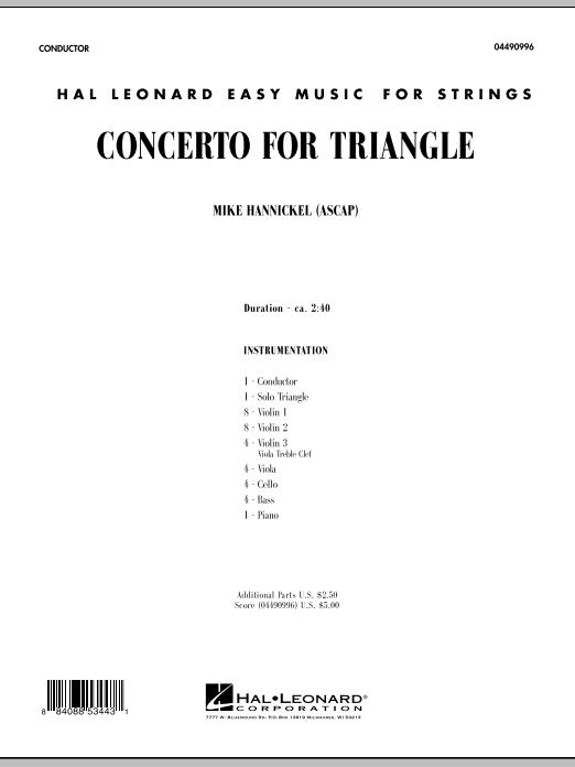 Concerto For Triangle - Full Score (Orchestra)