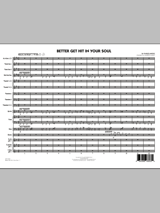 Better Get Hit In Your Soul (COMPLETE) sheet music for jazz band by Charles Mingus. Score Image Preview.