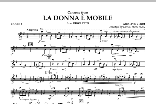 La Donna e Mobile (from Rigoletto) - Violin 1 (Orchestra)