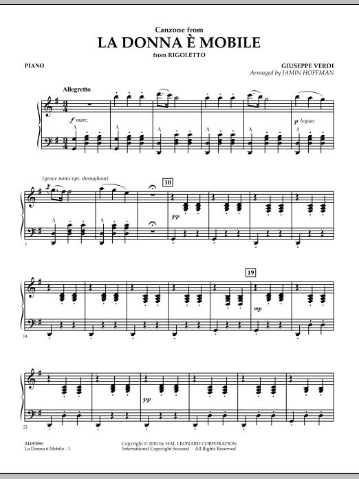 La Donna e Mobile (from Rigoletto) - Piano (Orchestra)