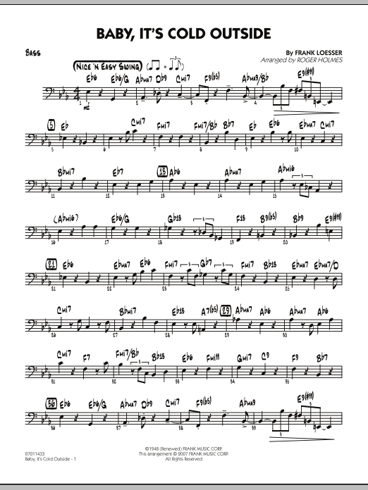 Baby, It's Cold Outside - Bass (Jazz Ensemble)
