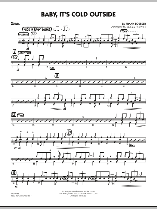Baby, It's Cold Outside - Drums (Jazz Ensemble)