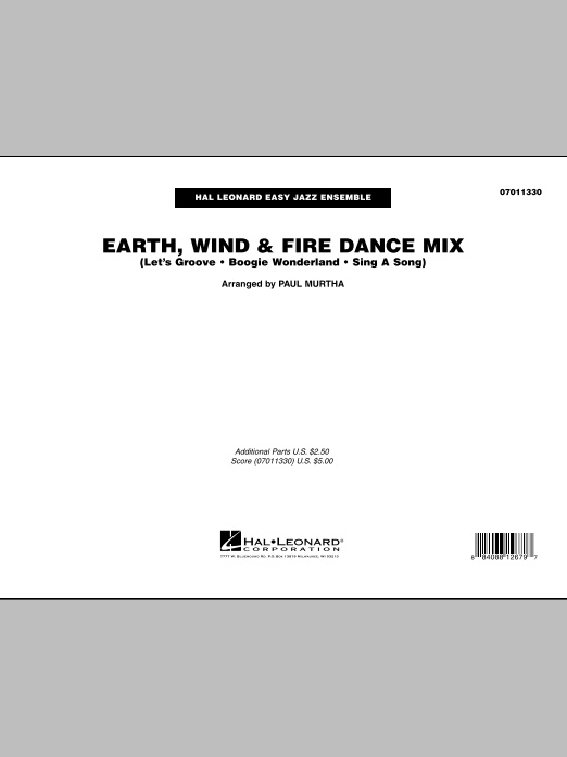 Earth, Wind and Fire Dance Mix (COMPLETE) sheet music for jazz band by Paul Murtha and Earth, Wind & Fire. Score Image Preview.