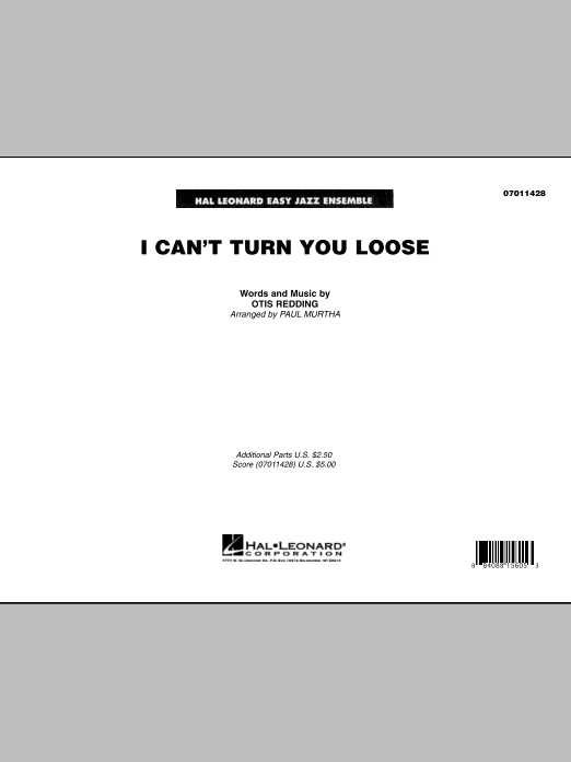 I Can't Turn You Loose (COMPLETE) sheet music for jazz band by Paul Murtha and Otis Redding. Score Image Preview.