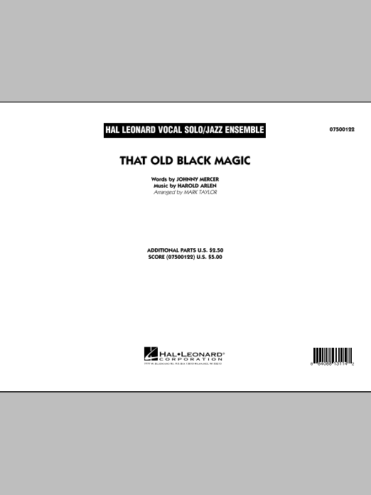 That Old Black Magic (COMPLETE) sheet music for jazz band by Mark Taylor, Harold Arlen and Johnny Mercer. Score Image Preview.