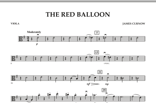 The Red Balloon - Viola (Orchestra)