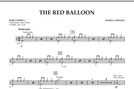 The Red Balloon - Percussion 1 (Orchestra)